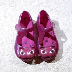 Worldcup Pink Glitter Cat Sandals Kids Size 10